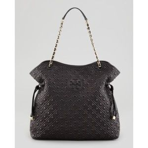 Tory Burch Marion Quilted Black Bag