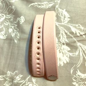 Pink leather Fitbit Alta band