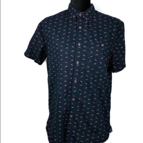 77f94e63 Cactus Shirts | Newyork Men Novelty Fox Print Button Down M | Poshmark