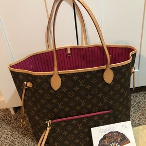 LV Neverfull GM Monogram Pivoine