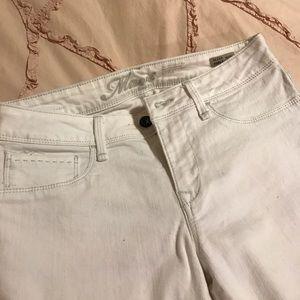White Mavi jeans-mid rise skinny