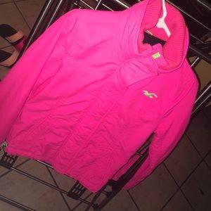 Hollister bright neon pink jacket!