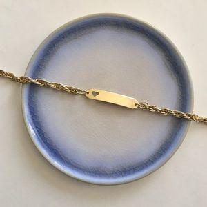 Vintage Gold ID Bracelet