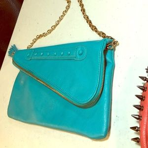 Aldo Turquoise clutch purse