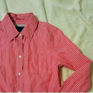 Pink White Striped Button Down 211