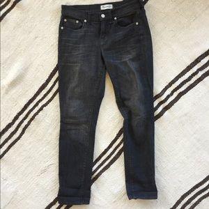 Black weathered Madewell jeans