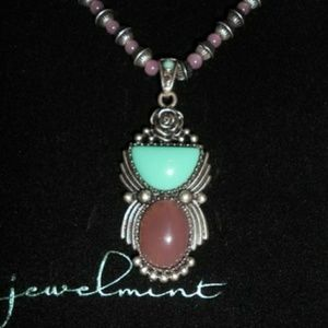 "Jewelmint Prairie Rose Art Deco 22"" Necklace"