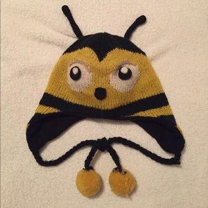 Bee beanie - 100% wool - fleece lined