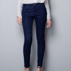 Zara animal print pants trousers xs 2
