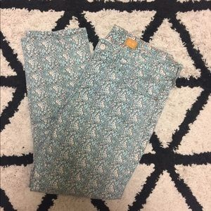 Anthropologie Pilcro Floral Cropped Jeans Pants