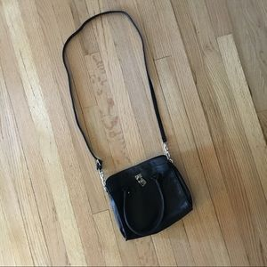 Handbags - Black Crossbody Mini Tote Faux Leather Purse