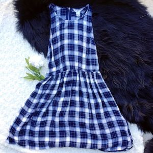 Forever 21 plaid blue dress💙🖤