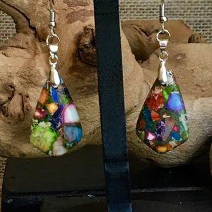 Multi- Color Sea Sediment Earrings