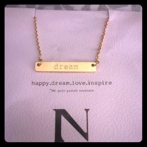 NWT * Jook And Nona 'DREAM' Bar Necklace