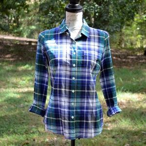 J. Crew plaid perfect shirt