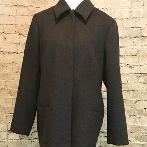 Wool and Cashmere Grey Coat