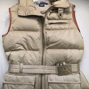 Ralph Lauren puffer quilted down vest Tan