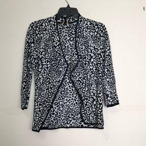 Dana Buchman: leopard print cardigan