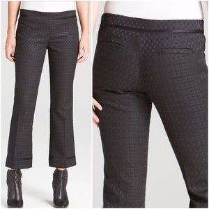 Tory Burch Black Madison Woven Crop Pants