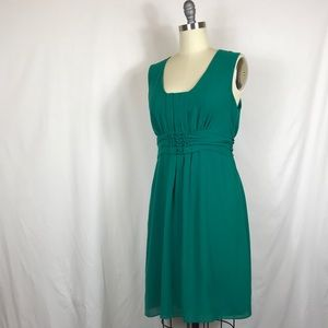 Max Studio Green lined dress EUC size Large