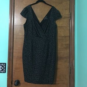 Pin up style gray and black dress 2x Forever21