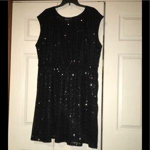 Lane Bryant size 26/28 Black Sequin Dress