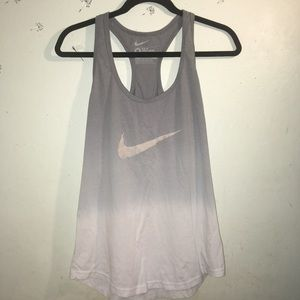 Grey and White Ombre Nike Racerback Tank Sz M