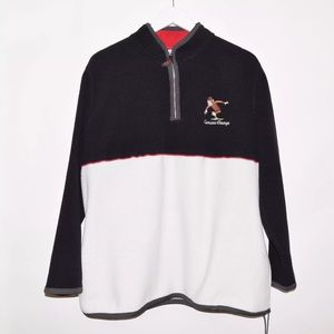 Rare Vintage VTG Curious George Half Zip Sweater