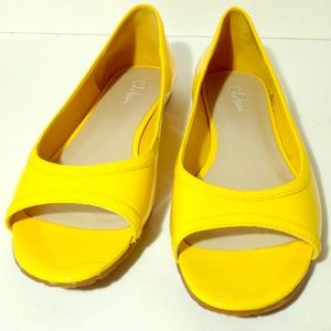 Cole Haan yellow patent leather flats - size 9