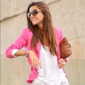 • h&m • pink blazer jacket