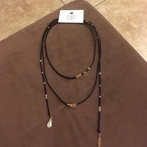 Bohemian style adjustable chocker necklace