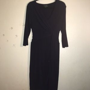 Lauren Ralph Lauren Navy Blue Long Sleeve Dress 10