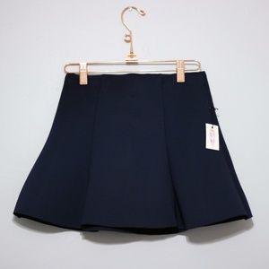 Forever21 Flare Scuba Mini Skirt- Navy