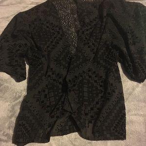Black Hollister Kimono Cover Up