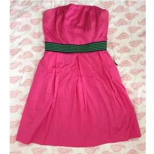 Lilly Pulitzer Hot Pink Dress with ribbon belt