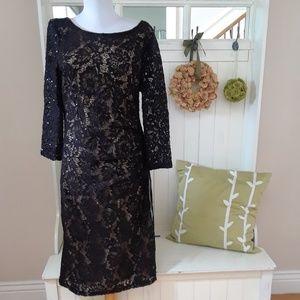 Stunning Black Lace Evening Dress