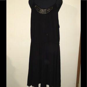 Lane Bryant Size 28 Black Dress with Beads/Jewels