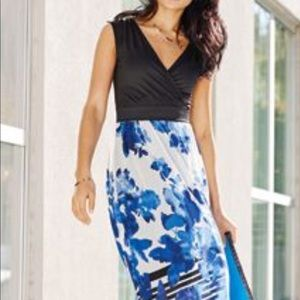 Printed Floral Maxi Dress