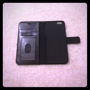 Black iPhone 6 or 6s plus wallet case
