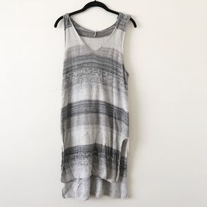 Free People Grey Striped Hooded Sweater Dress