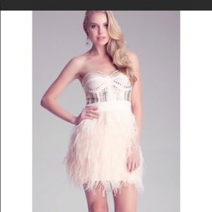 Bebe dress feather