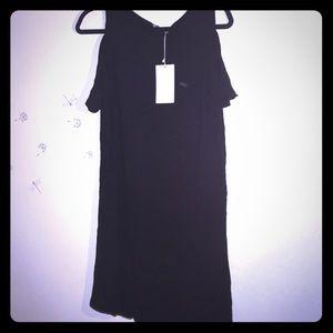 NWT Zara Peep/Cold Shoulder T-Shirt Dress Sz M