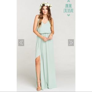 Show Me Your Mumu Kendall Maxi Dress in Dusty Mint