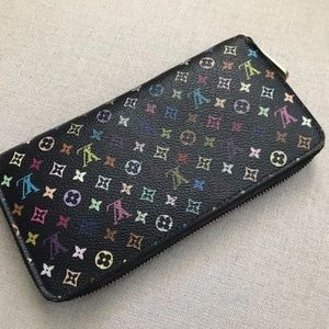 LOUIS VUITTON Multi Color Zip Around Wallet
