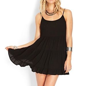 Forever 21 black backless dress
