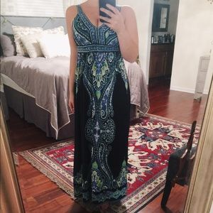 INC Blue and Green Maxi Dress