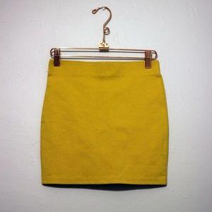HM Mustard Mini Skirt