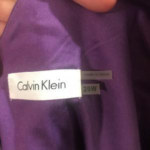 Calvin Klein Full Skirt Purple Dress