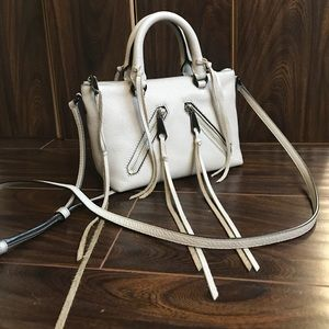 REBECCA MINKOFF Micro Moto Leather Satchel Bag