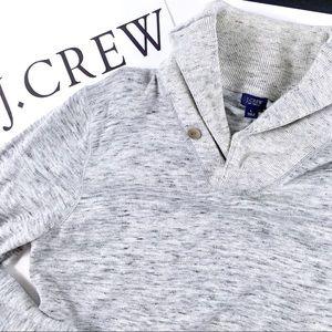J.Crew Mens Gray Collared Sweater